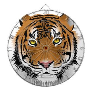 Tiger Head Print Design Dartboard