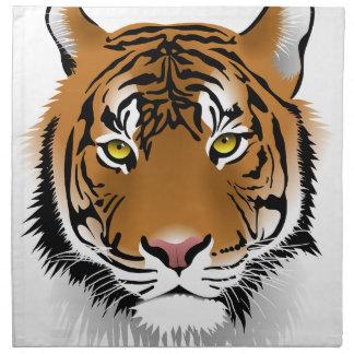 Tiger Head Print Design Napkin