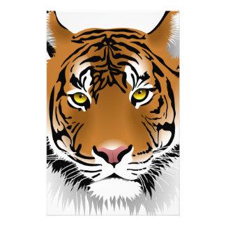 Tiger Head Print Design Stationery