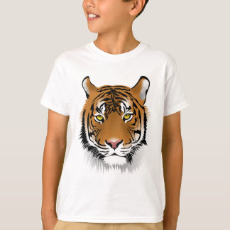 Tiger Head Print Design T-Shirt
