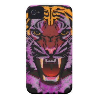 Tiger Head, Tiger Artwork ,Wild Cat, Animal Art iPhone 4 Cases