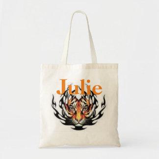 Tiger Head Tote Budget Tote Bag