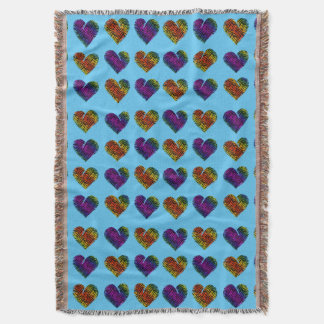 Tiger Heart 1 Throw Blanket
