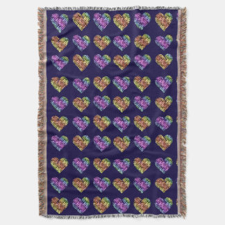 Tiger Heart 2 Throw Blanket