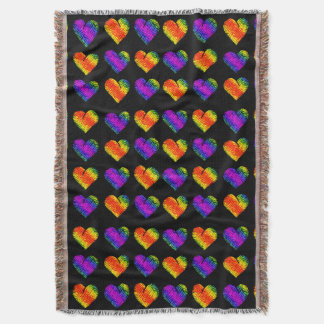 Tiger Heart 3 Throw Blanket