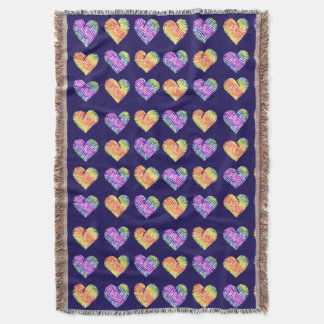 Tiger Heart 4 Throw Blanket