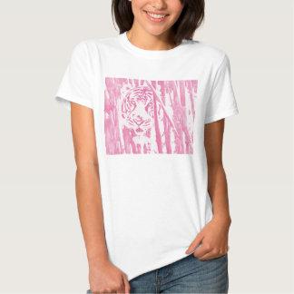 Tiger Hiding in Bamboo -- Magenta Tee Shirt