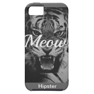 Tiger Hipster Black university coolly styles fight iPhone 5 Cover