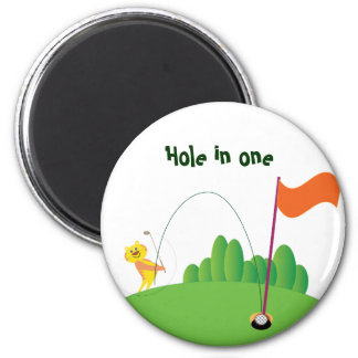 Tiger :: Hole in One 6 Cm Round Magnet