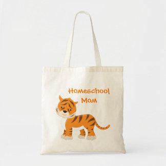 Tiger Homeschool Mom Tote Bag