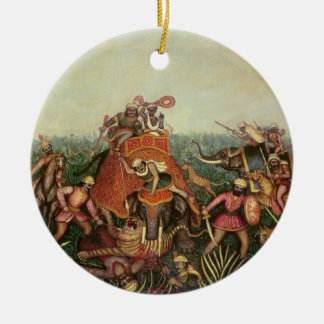 Tiger Hunt, 1892 (oil on canvas) Christmas Ornament