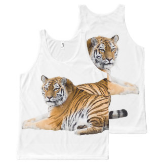Tiger image for All-Over-Printed-Unisex-Vest All-Over Print Tank Top