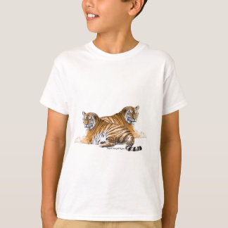 Tiger image for Kids'-T-Shirt-White T-Shirt