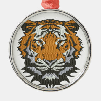 tiger imitation of embroidery christmas ornament