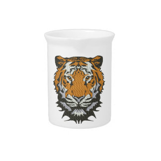 tiger imitation of embroidery pitcher