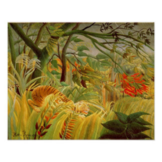 Tiger in a Tropical Storm  1891 Poster