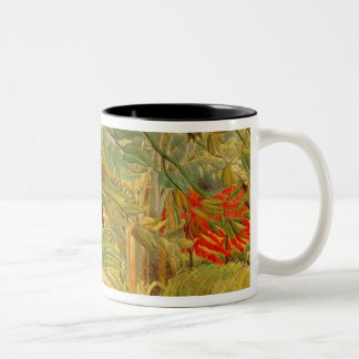 Tiger in a Tropical Storm  1891 Two-Tone Coffee Mug