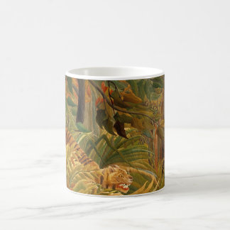 Tiger in a Tropical Storm by Henri Rousseau Basic White Mug