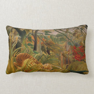 Tiger in a Tropical Storm by Henri Rousseau Cushions