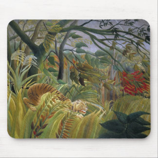 Tiger in a Tropical Storm by Henri Rousseau Mouse Mat