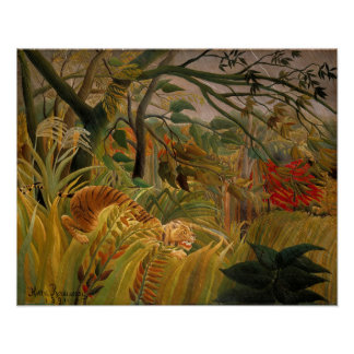 Tiger in a Tropical Storm by Henri Rousseau Poster