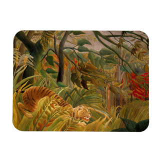 Tiger in a Tropical Storm by Henri Rousseau Rectangular Photo Magnet