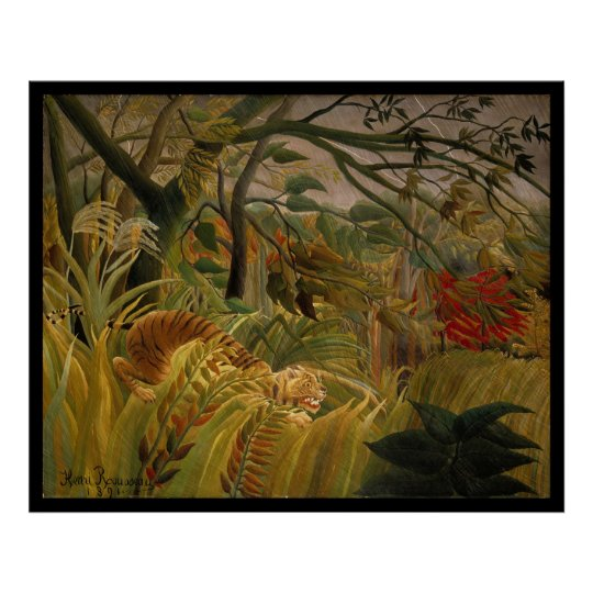 Tiger in a Tropical Storm- Henri Rousseau Poster