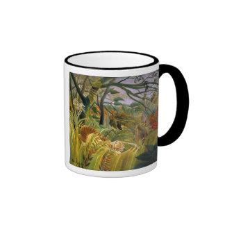 """Tiger in a Tropical Storm"" Ringer Mug"