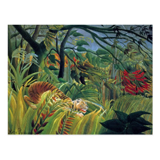 Tiger in a Tropical Storm (Surprised) Postcard