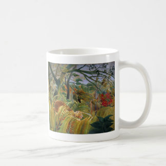 Tiger in a Tropical Storm (Surprised!) Rousseau Basic White Mug