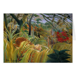 Tiger in a Tropical Storm (Surprised!) Rousseau Card