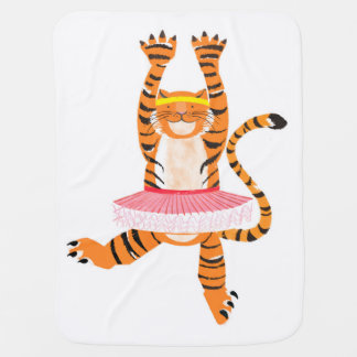 Tiger in a Tutu Baby Blanket