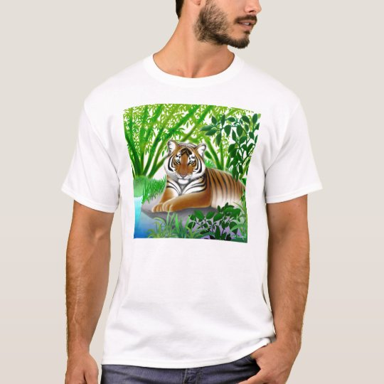 Tiger in Bamboo Forest T Shirt