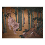 Tiger in Bamboo Grove by Kano So-yu Poster