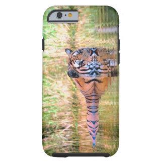 Tiger in lake tough iPhone 6 case