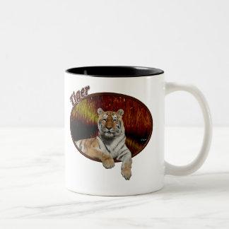 Tiger In Oval Coffee Mug