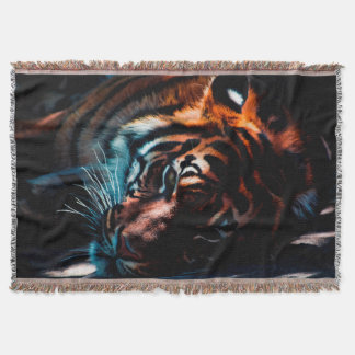 Tiger In Repose Throw Blanket
