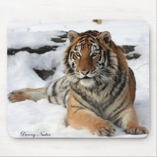 Tiger in Snow Mouse Pad