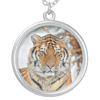 Tiger in Snow Necklace