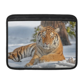 Tiger in Snow Sleeve For MacBook Air