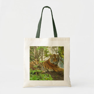 Tiger in The Forest Budget Tote Bag