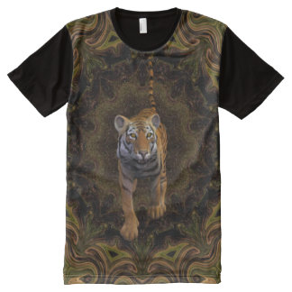 Tiger In The Jungle. All-Over Print T-Shirt