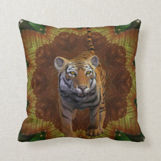 Tiger In The Jungle. Throw Pillow