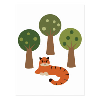 Tiger In Trees Postcard