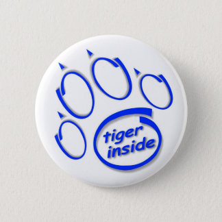 tiger Inside 6 Cm Round Badge