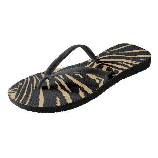 Tiger Inspired Black-Coco Flip Flops