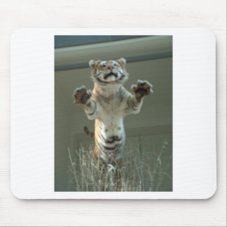 Tiger jumps at you. Press Paws. Mouse Pad
