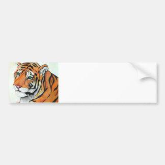 Tiger - Kimberly Turnbull Art (W/C Pencils) Bumper Sticker