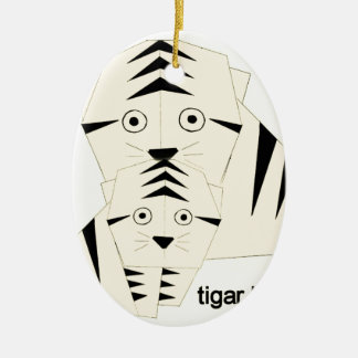 tiger kisses christmas ornament