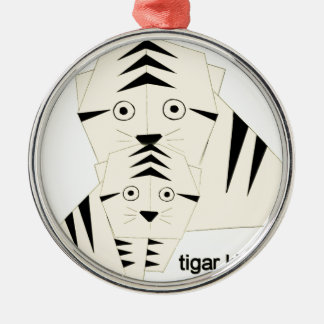 tiger kisses christmas ornament